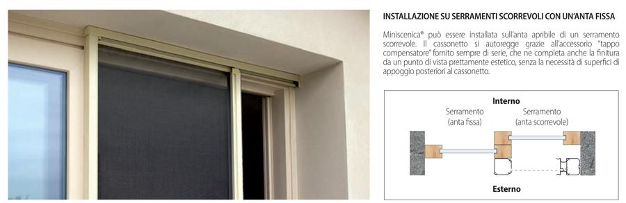 Miniscenica Bettio Installation auf Schiebetüren