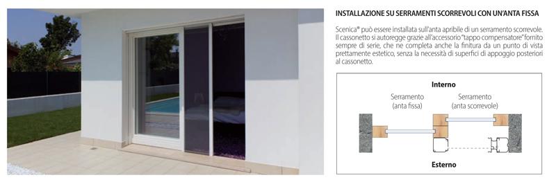 Acquista zanzariere su misura bettio scenica senza - Tipi di zanzariere per porte finestre ...