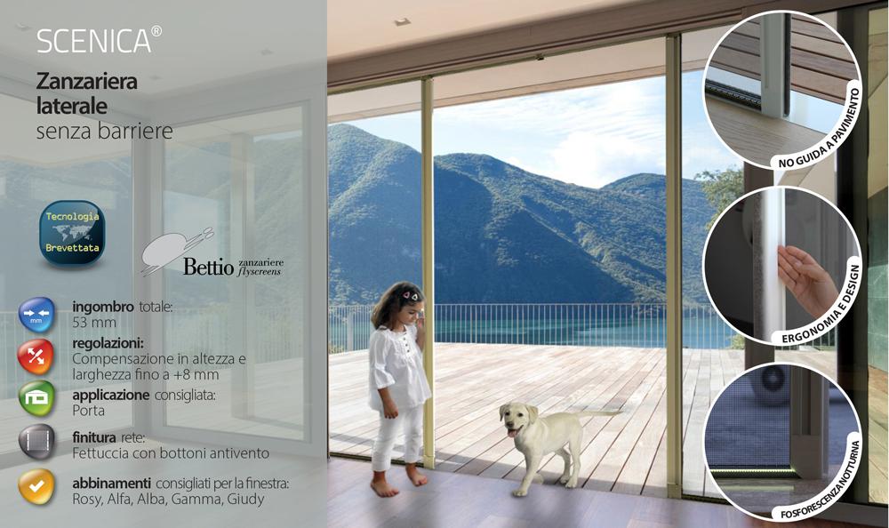 Zanzariera bettio scenica a scorrimento laterale compra - Modelli di zanzariere per porte finestre ...