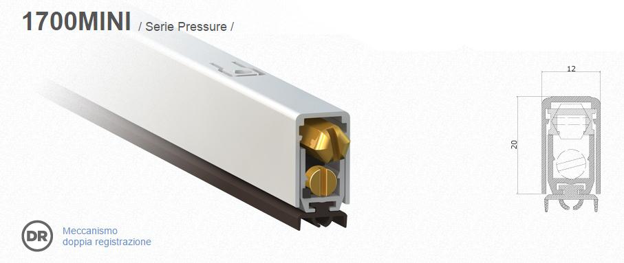 Burlete para puertas comaglio 1700 mini pressure series venta en l nea windowo - Spazzole per porte scorrevoli ...