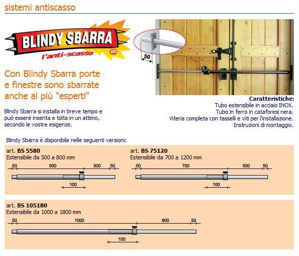 Anti scasso blindy sbarra blindatura porte e finestre acquista su windowo - Blocca porte e finestre ...
