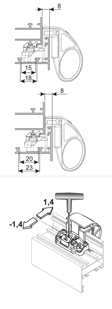 Cricchetto giesse accessori per porte e finestre vendita for Scheda tecnica anta ribalta giesse