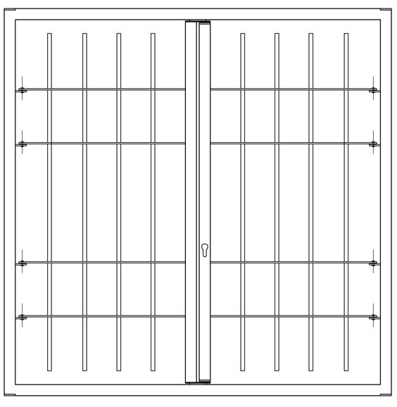 Rost 2 Türen ohne Gelenk leon