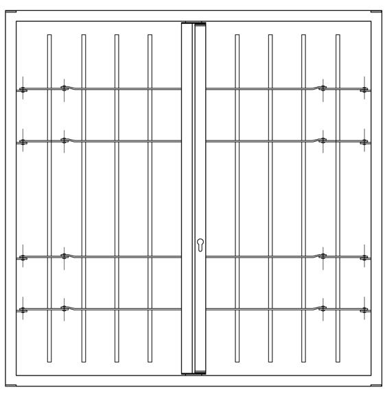 Sicherheitsschleuse 2 Türen mit Gelenk leon Licht