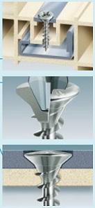 Framex Mustad PVC Schrauben reduziert Kopfhohlquer für Fenster