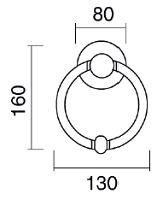 Luna Türklopfer Brass Door für PFS Pasini