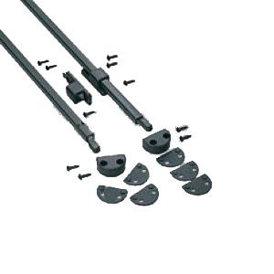 Kit aste verticali savio per finestre accessori per anta - Ricambi per maniglie finestre in alluminio ...