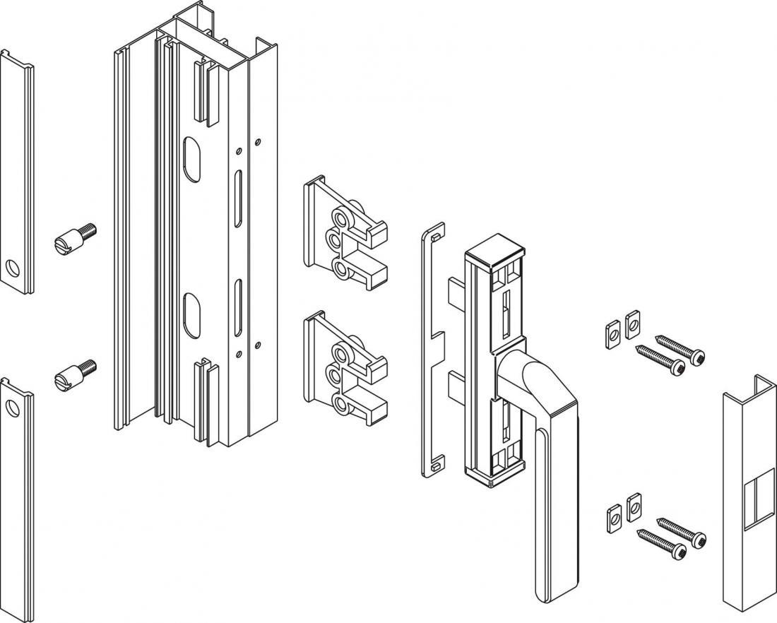 Nova giesse maniglie cremonesi kit collegamento windowo - Maniglie per finestre ...