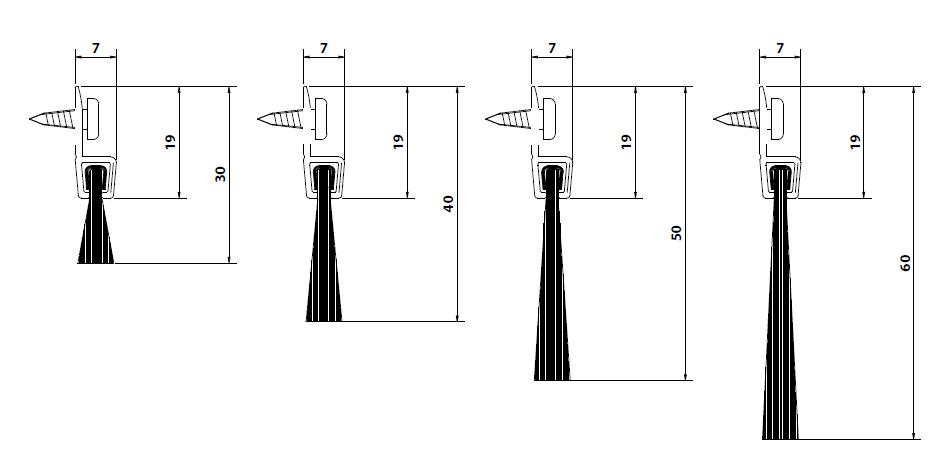 Vendita online paraspifferi comaglio serie comax fisso fai da te per porta 125sp - Spazzole per porte scorrevoli ...