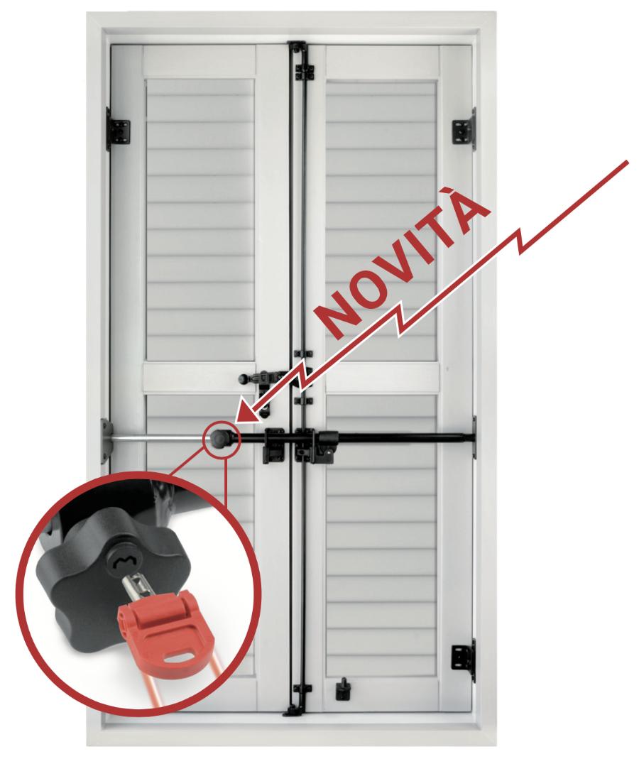 Blindy key pomolo di sicurezza con chiave antiscasso per - Sbarre di sicurezza per finestre ...