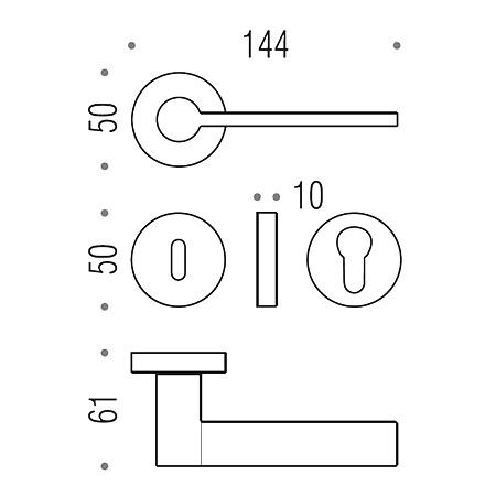maniglia per porta michele de lucchi architetto tool colombo design