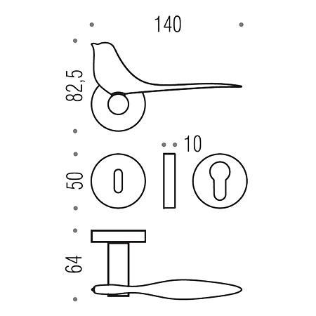 twitty handle for door colombo design
