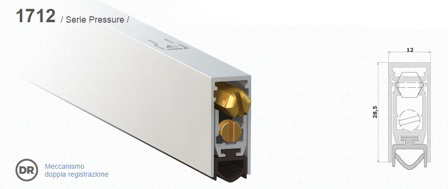 Paraspifferi per porte comaglio 1712 serie pressure - Paraspifferi sottoporta automatico ...
