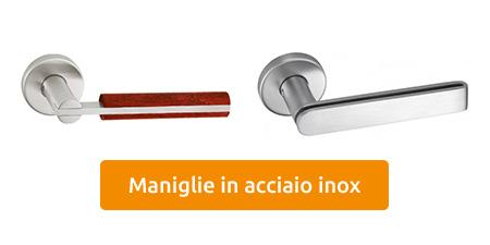 vendita maniglie in acciaio inox
