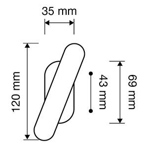 Misure maniglia Linea Calì Dalia