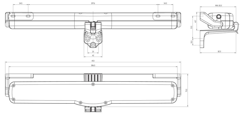 Acquista kato nekos attuatore a catena elettrico per for Lucernario elettrico velux