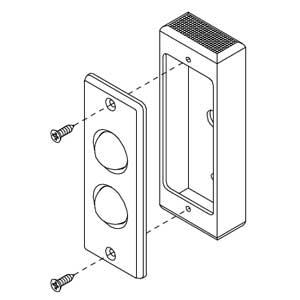 - Scatola in alluminio anodizzato argento per articolo 55010 - 55013 - 55017