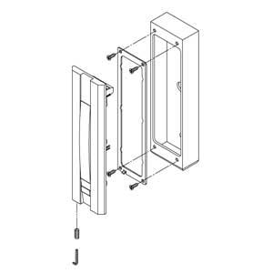 - Scatola in alluminio anodizzato argento per articolo 55030 - 55031 - 55033