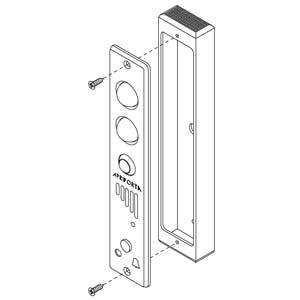 - Scatola in alluminio anodizzato argento per articolo 55014