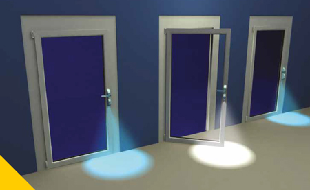 Led blu/bianco per illuminazione a pavimento
