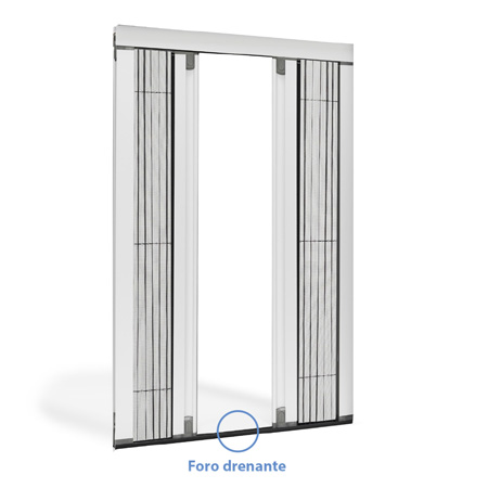 Pleated Insect Screen Double Side with Frictioned Opening Circe