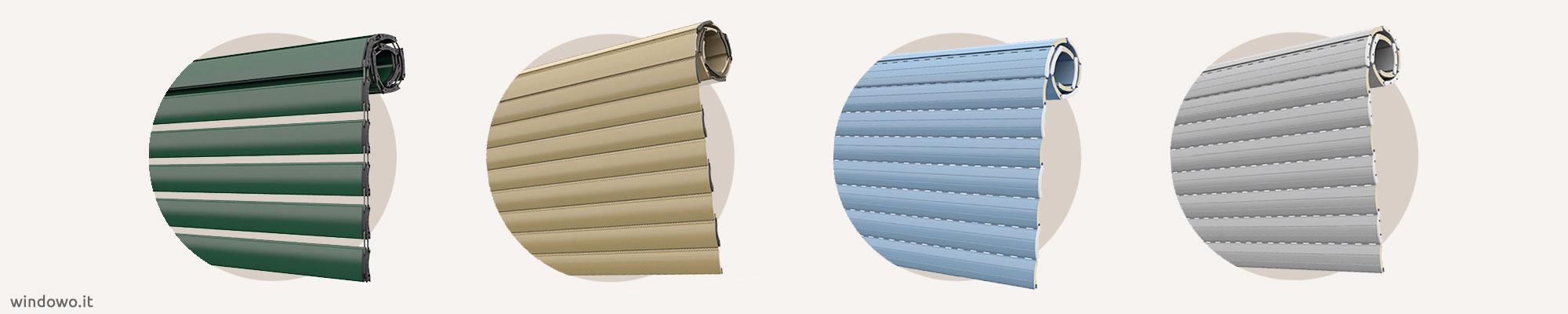 Tapparelle in Alluminio Coibentato