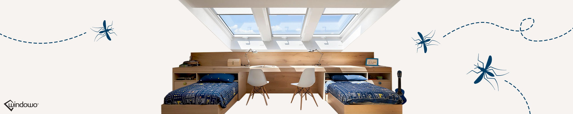 Zanzariere Velux e finestre da tetto