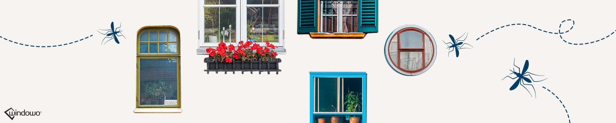 Zanzariere plissettate per finestre