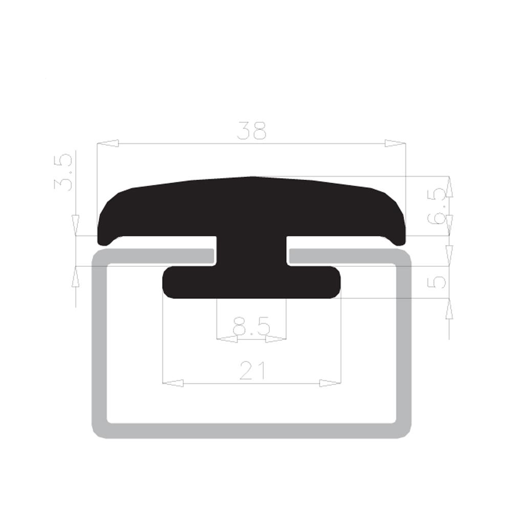 Guarnizione cavalletti portavetro 10mm complastex bianca - Guarnizione per finestre ...