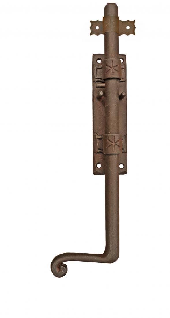 Catenaccio verticale galbusera in ferro battuto acquista - Chiavistelli per finestre ...