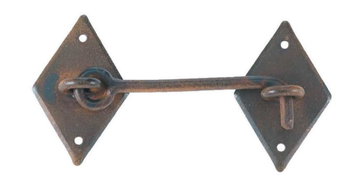 Chiavistello in ferro battuto galbusera offerta online windowo - Chiavistelli per finestre ...