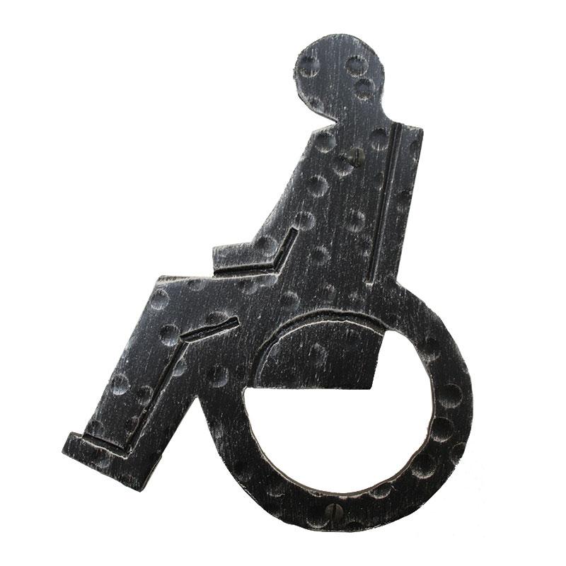 2206h segnale carrozzina in ferro battuto per bagno wc - Carrozzina per bagno disabili ...