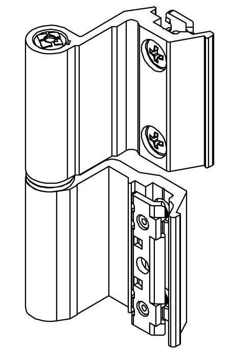 Cerniere per serramenti giesse flash base serie r - Cerniere per finestre ...