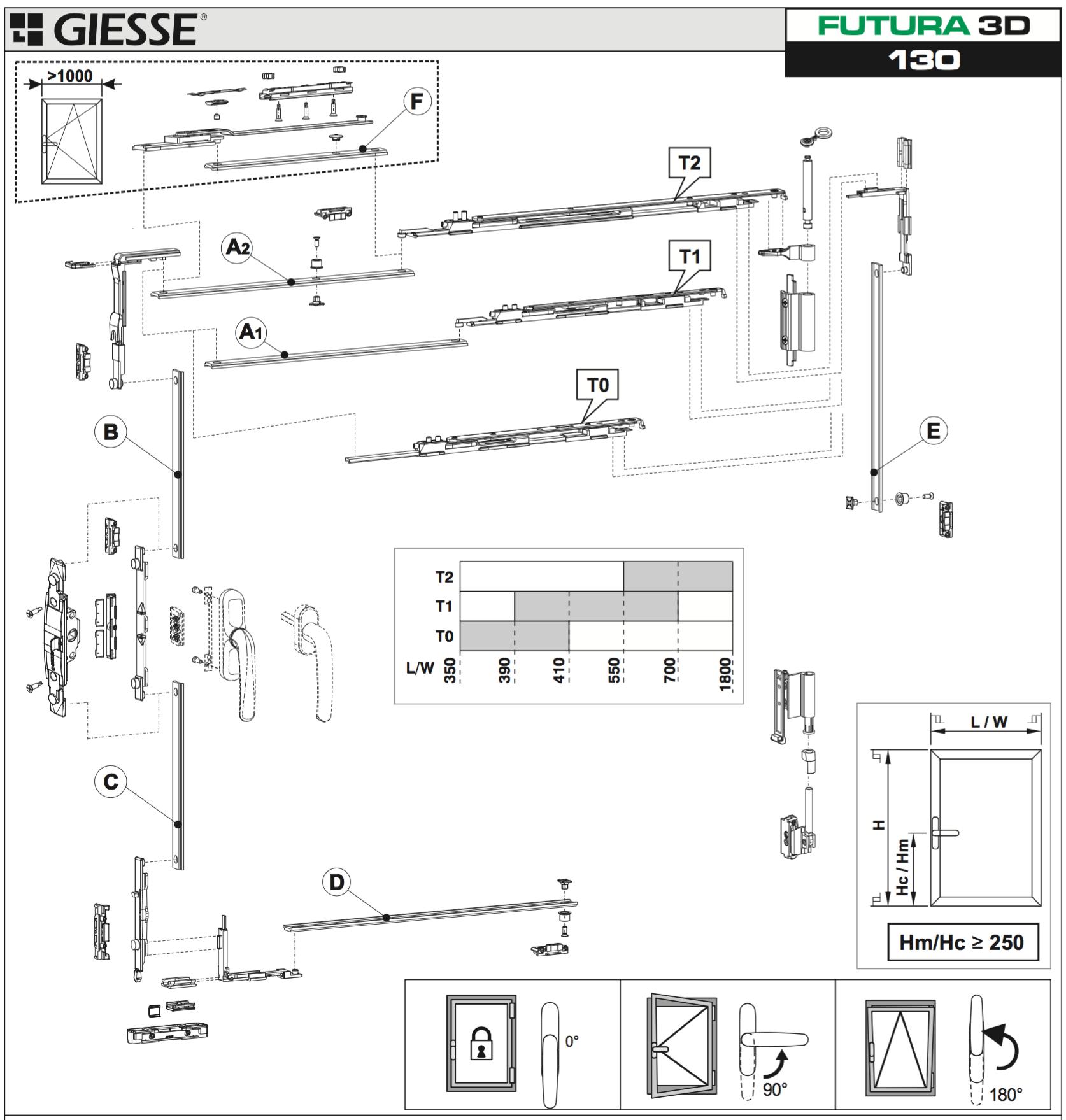 Acquista anta ribalta giesse futura 3d per martellina base - Finestra vasistas meccanismo ...