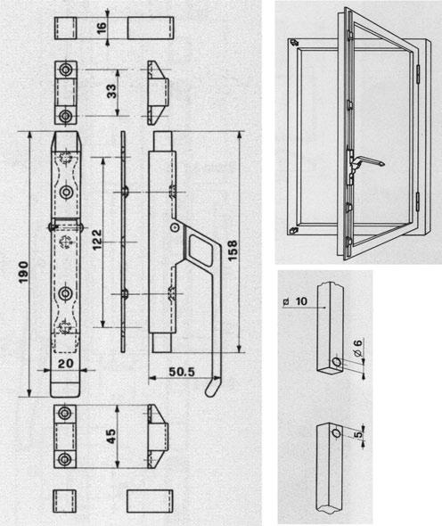 Chiusure serramenti in ferro vendita online accessori windowo - Ferramenta per chiusura finestre ...