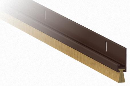 Paraspifferi fissi varie misure per porte comaglio 1250 - Spazzole per porte scorrevoli ...