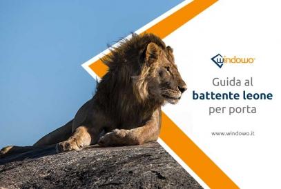 Battenti per porta esterna a testa di leone