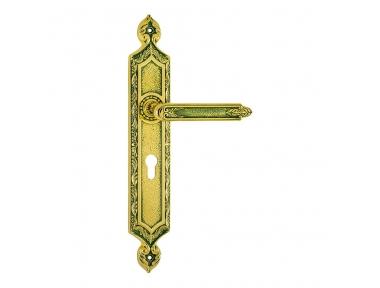 1010/1030 Amethyst Class Maniglia per Porta su Placca Frosio Bortolo Made in Italy di Architettura Islamica