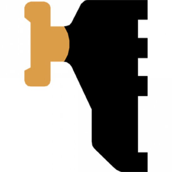 Guarnizione Appoggio Vetro 3mm Profili Alluminio Varie Serie Bobina Da