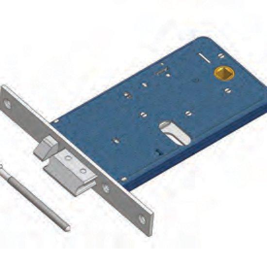 Scrocco Con Mandata Omec Esclusione Mandata Serratura Alluminio Fascia