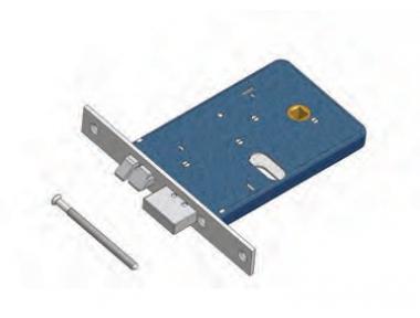 Catenaccio e Scrocco 378/F22 DX Omec Serratura Alluminio Fascia Elettrica