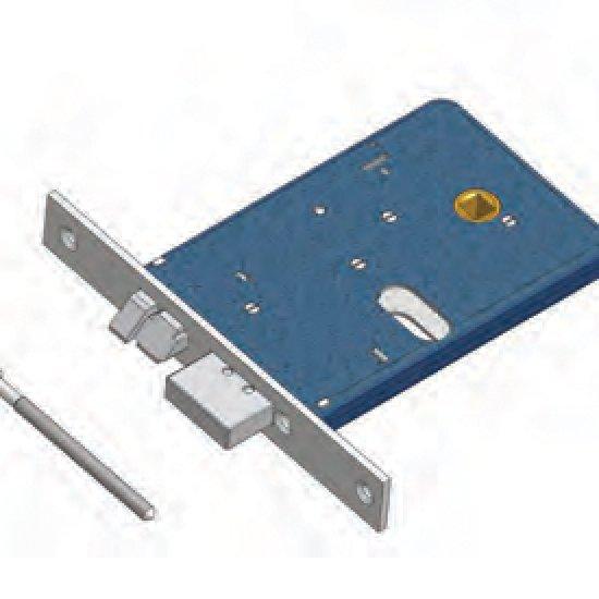 Catenaccio E Scrocco 378f22 Sx Omec Serratura Alluminio Fascia Elettri