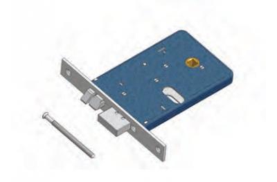 Catenaccio e Scrocco 378/F22 SX Omec Serratura Alluminio Fascia Elettrica