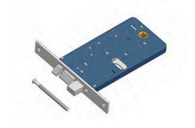 Catenaccio e Scrocco 778/F22 Omec Serratura Alluminio Fascia Elettrica
