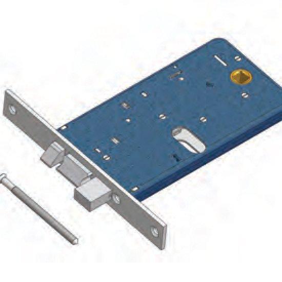 Catenaccio E Scrocco 878 Omec Serratura Alluminio Fascia Elettrica