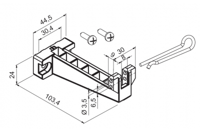 Staffa per Applicazione a Vasistas Motore WAY Mingardi Micro