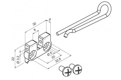 Staffa per Applicazione a Sporgere Motore WAY Mingardi Micro