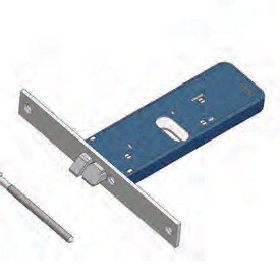 Scrocco 399f22 Sx Omec Non Reversibile Serratura Alluminio Fascia Elet