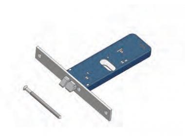 Scrocco 399/F22 SX Omec Non Reversibile Serratura Alluminio Fascia Elettrica