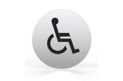 Pittogramma per Bocchetta Tonda Bagno Disabili Toilette Tropex